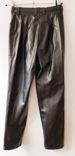 ae elegance Leather Trousers black