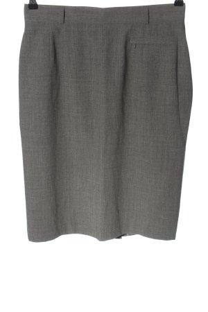 Elégance Gonna in lino grigio chiaro puntinato stile professionale