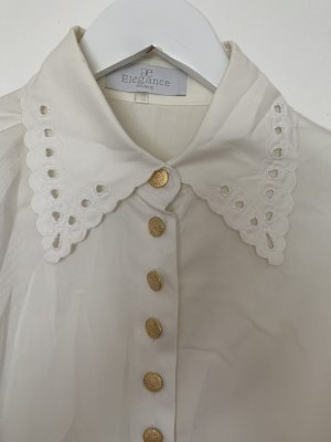 ae elegance Long Sleeve Blouse white-gold-colored