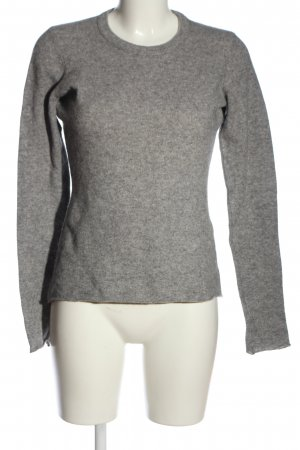Elégance Paris Cashmere Jumper light grey flecked casual look