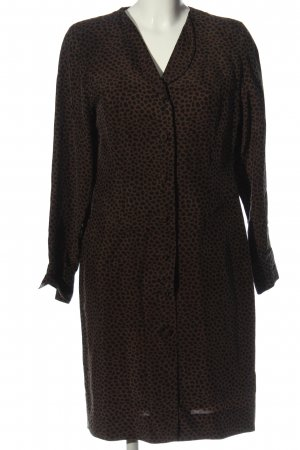 Elégance Paris Langarmkleid braun-schwarz abstraktes Muster Casual-Look