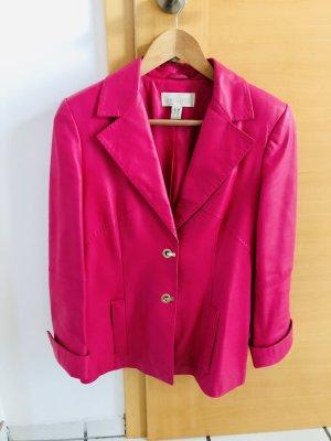 Élegance Paris Lederjacke Blazer Pink 36/S Echt Leder Neuwertig