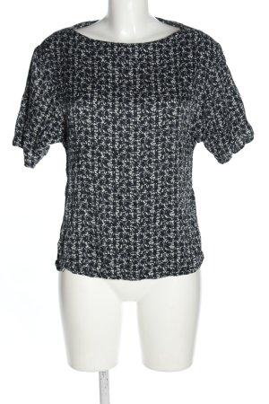 Elégance Paris Schlupf-Bluse schwarz-weiß abstraktes Muster Casual-Look