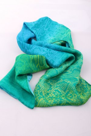 Elégance Paris Shoulder Scarf turquoise-green allover print casual look