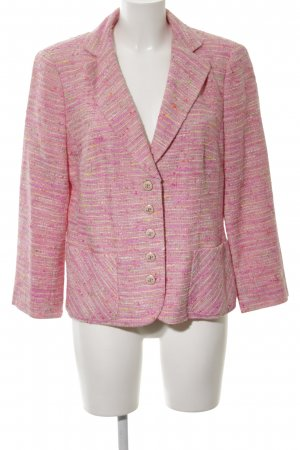 Elégance Paris Tweedblazer pink-blassgelb meliert Business-Look