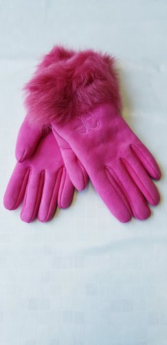 ae elegance Guanto in pelle rosa