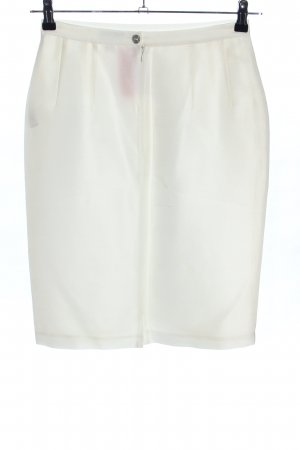 Elegance Prestige Silk Skirt white casual look