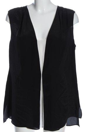 Elégance Schlupf-Bluse schwarz-weiß Casual-Look