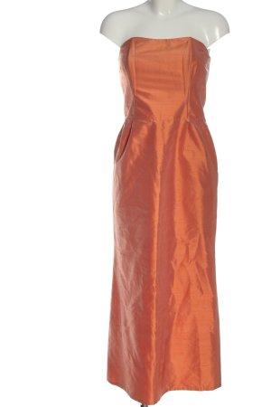 Elégance schulterfreies Kleid hellorange Elegant
