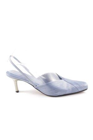 Elégance Slingback-Pumps blau Elegant
