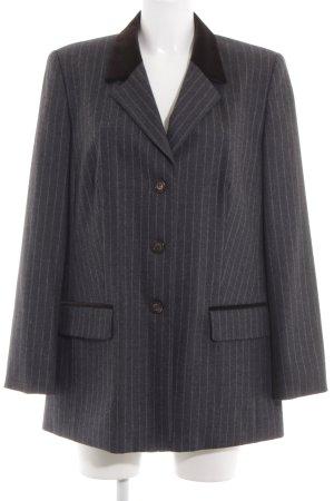 Elégance Blazer en laine noir motif rayé style d'affaires
