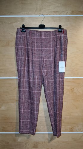 Elégance Woolen Trousers bordeaux-pink wool