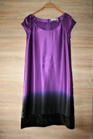 Elegant 100 %Seide lila Kleid von Monnari gr. 36 wie neue!