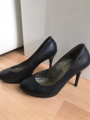 0039 Italy Platform Pumps black