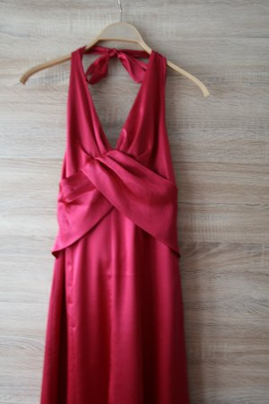 Elegant Abendkleid Ballkleid aus weinrot Satin Gr.38