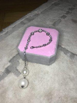 0039 Italy Bransoletki z perłami srebrny