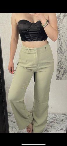 Pantalon capri gris vert