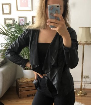 Noisy May Blazer in pelle nero