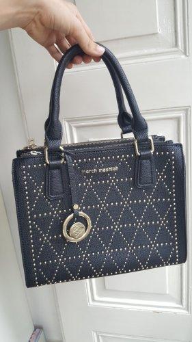 Elegant-rockige Handtasche mit Nieten und vielen Fächern