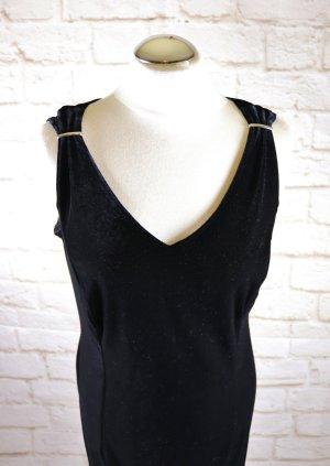 Nienhaus Vestido largo negro-color plata tejido mezclado