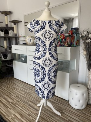 Bodyflirt Midi Dress white-blue