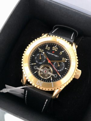 Self-Winding Watch gold-colored-black metal