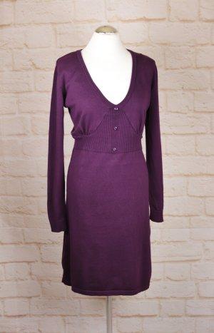 Aniston Sukienka z dzianiny bordo-purpurowy Bawełna