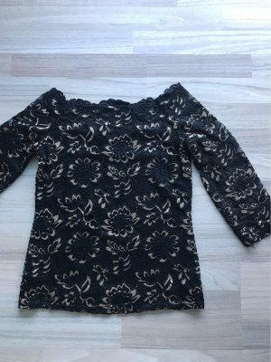 Melrose Lace Blouse black-gold-colored