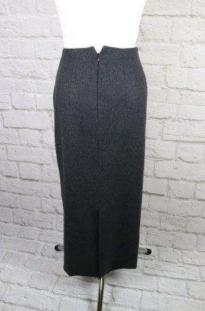 Elegant Wollrock Rock Maxirock Hirsch Größe 36 38 M Grau Dunklgrau Anthrazit Meliert Wolle High Waist Pencil Skirt