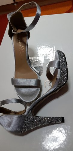 Chicchickclub Dianette sandalen limoen geel Gemengd weefsel