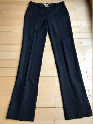 Diane von Furstenberg Pantalón de lana azul oscuro tejido mezclado