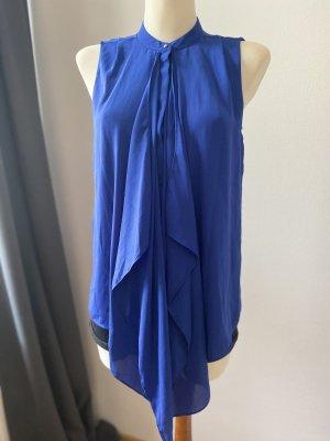 elegante blaue Bluse