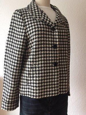 dino moda Wool Blazer black-natural white