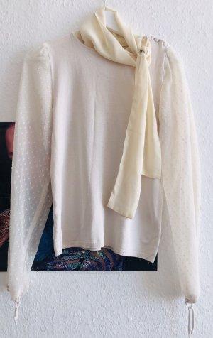 Mango Suit Blouse avec noeuds blanc cassé-crème