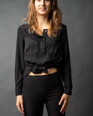 Blusa brillante nero