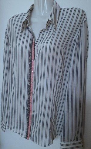 Elegante Bluse Hemdbluse mit raffinierten Details Business Casual