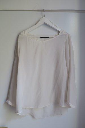 Elegante Bluse in creme/weiß