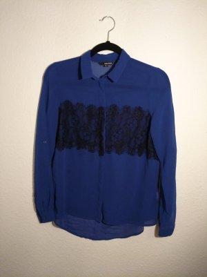 elegante Bluse in tiefblau
