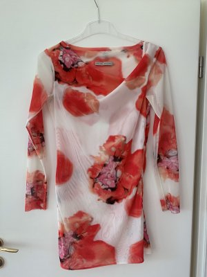 Elegante Bluse mit Blumenmuster transparent, langärmlig