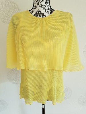 Elegante Bluse Plissee gr 36 S gelb Zara Neu