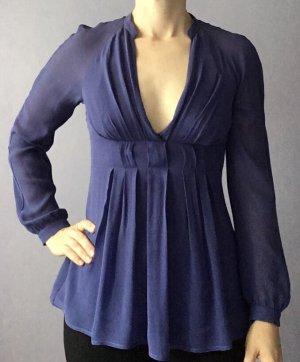 Armani Exchange Long Sleeve Blouse steel blue