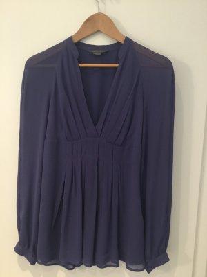 Armani Exchange Bluzka z długim rękawem stalowy niebieski