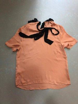 Asos Połyskująca bluzka nude-jasny pomarańczowy Poliester
