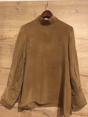 COS Bluzka ze stójką piaskowy brąz-camel