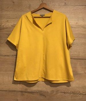 COS Bluzka z krótkim rękawem bladożółty-żółty