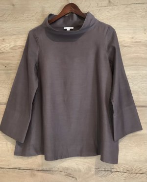 COS Stand-Up Collar Blouse grey lilac-mauve