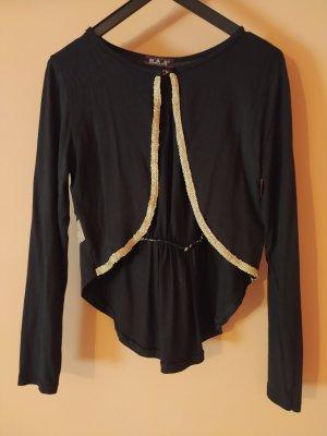 Chaqueta de lana negro-color oro