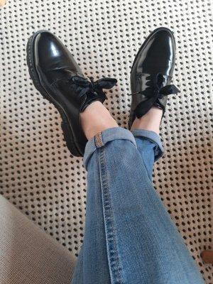 Deichmann Wingtip Shoes black