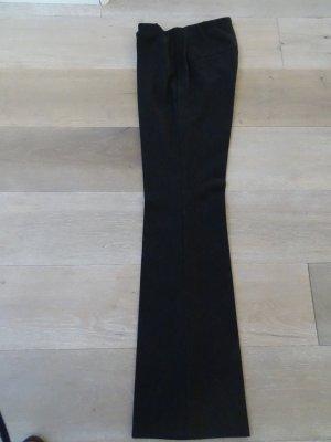 Cambio Pantalone a pieghe blu scuro Lana vergine