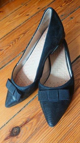 Caprice Ballerinas with Toecap black leather